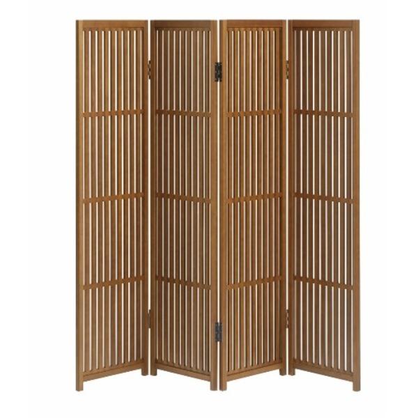 趣スクリーン 4曲 日本製 伝統工芸職人技術 木製 屏風 衝立