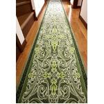 グレースオーナメント廊下敷 抗菌防臭 80×540cm グリーン 日本製 マット