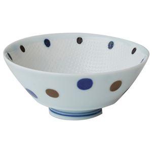(業務用2セット) いちがま 持ち易い茶碗 青ドット5客セット JB2406-36 - 拡大画像