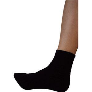 (業務用2セット) 蘭花 転倒予防靴下アガルーノ ブラック24-25cm