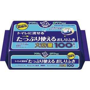 (業務用20セット) 日本製紙クレシア アクティトイレに流せるおしりふき100枚 h01