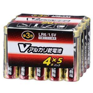 (業務用20セット) オーム電機 アルカリ乾電池 単3形20本 LR6/S20P/V - 拡大画像