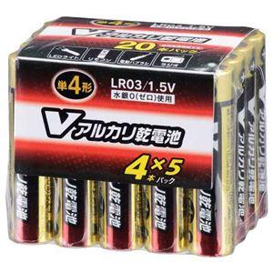 (業務用20セット) オーム電機 アルカリ乾電池 単4形20本 LR03/S20P/V - 拡大画像