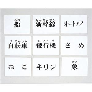 DLM 言語訓練文字カード 生物・乗物 2214S-M - 拡大画像