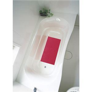 アロン化成 吸着すべり止めマット(浴槽内) レッド M