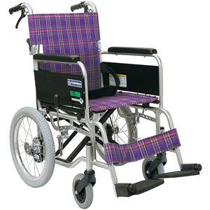 カワムラサイクル 車いすKA402SB-40 (A11:紫) 【非課税】 - 拡大画像