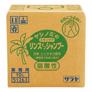 牛乳石鹸共進社 ヤシノミスキンケアリンスinシャン10L - 拡大画像