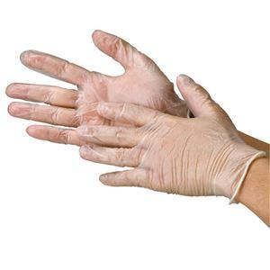 (まとめ) 川西工業 ビニール極薄手袋 粉なしM【×10セット】 - 拡大画像