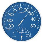 (まとめ) リズム時計 シチズン 温湿度計 TM-108【×3セット】