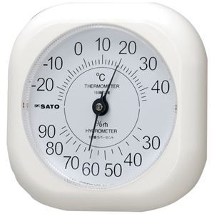 (まとめ) 佐藤計量器 ソフィア温湿度計【×5セット】