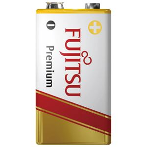 (まとめ) 富士通 アルカリ乾電池プレミアム 9V 6LR61FP(S)【×10セット】