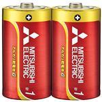 (まとめ) 三菱電機 三菱電機アルカリ乾電池 単1形 10本【×5セット】