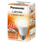 (まとめ) Panasonic LED電球60形 E26 下方向 電球色 LDA7LHEW2【×5セット】