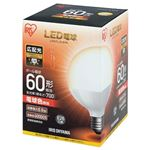 (まとめ) アイリスオーヤマ LED電球60W E26 ボール球 電球 LDG7L-G-6V4【×5セット】