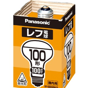 (まとめ) Panasonic 屋内用レフ電球 100形 RF100V90WD【×10セット】