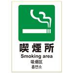 (まとめ) ヒサゴ ピタロングステッカー 喫煙所 A4 KLS033【×10セット】
