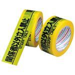 (まとめ) ダイヤテックス 安全標示テープ立入禁止50mm×25m H-06-SO【×10セット】