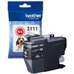 (まとめ) ブラザー インクカートリッジLC3111BK【×10セット】