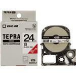 キングジム テプラPROテープSS24KL-5 白に黒字24mm 5個