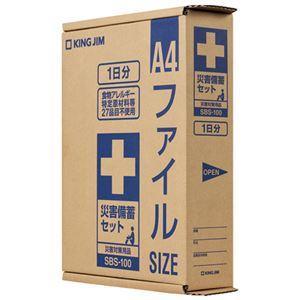 (まとめ) キングジム 災害備蓄セット SBS-100【×3セット】 - 拡大画像