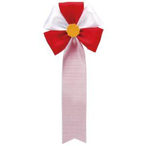 (まとめ)徽章リボン五方リボン 459-007 赤【×50セット】 - 拡大画像