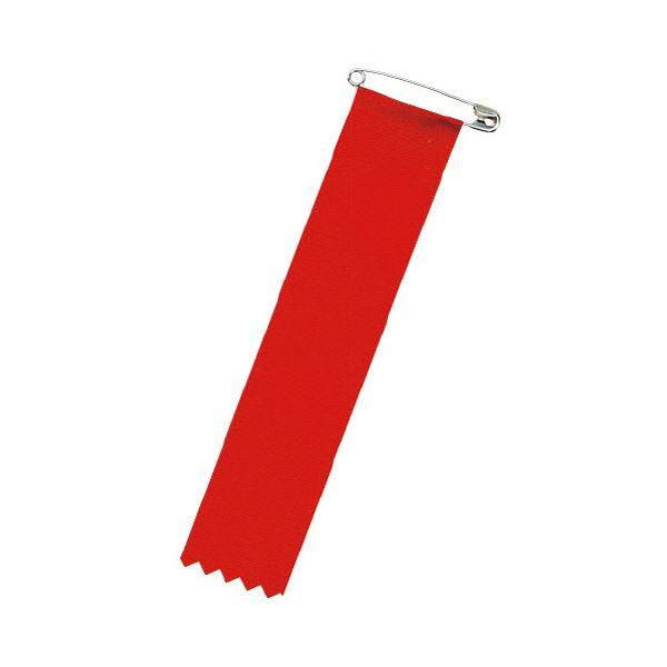 (まとめ)リボン 徽章ビラ 赤 459-781【×100セット】