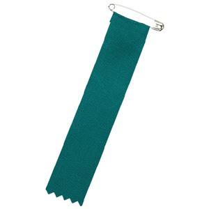 (まとめ)リボン 徽章ビラ 緑 459-785【×100セット】 - 拡大画像