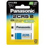 (まとめ)Panasonic リチウム電池 2CR-5W【×5セット】