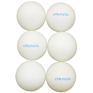 (まとめ)カルフレックス 卓球ボール6pCTB006WH白40mm【×10セット】 - 拡大画像