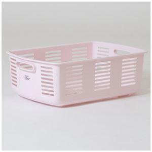 (まとめ)林製作所 脱衣カゴ ピンク【×3セット】 - 拡大画像