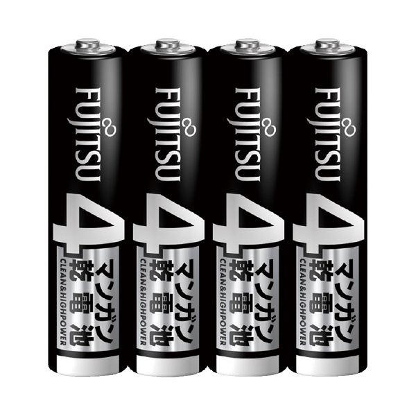 (まとめ)富士通マンガン乾電池 単4形 4本入【×30セット】