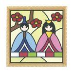 (まとめ)藤久 貼り絵パズルキット 梅とひなまつり【×5セット】
