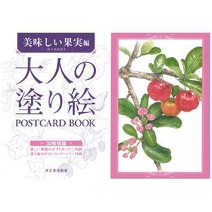 (まとめ) 河出書房新社 大人の塗り絵POSTCARDBOOK美味しい果実編【×5セット】 - 拡大画像