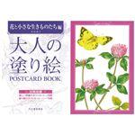 (まとめ) 河出書房新社 大人の塗り絵POSTCARD花と小さな生きもの【×5セット】
