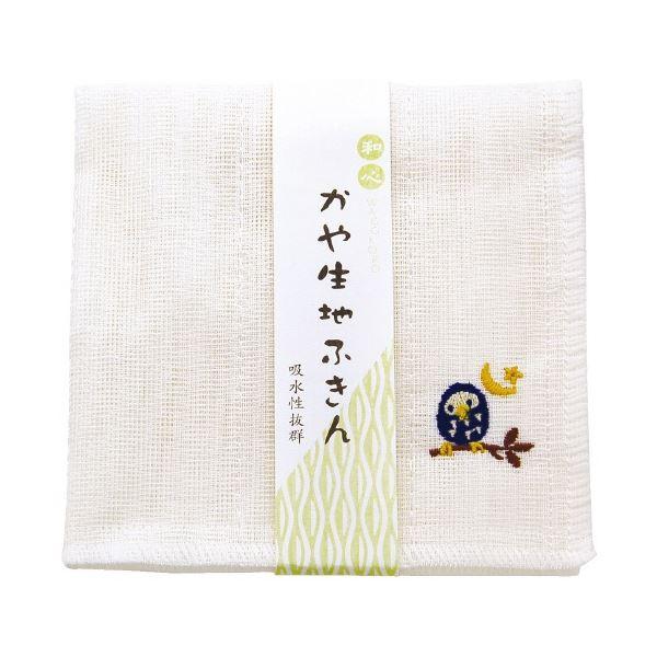 (まとめ)ヤマコー かや生地ふきん ふくろう【×10セット】