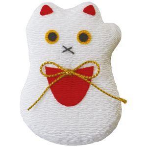 (まとめ)ヤマコー ちりめんマグネット 招き猫【×10セット】 - 拡大画像