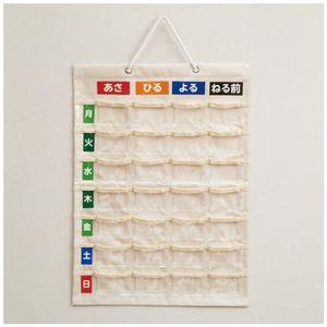 (まとめ)ナカバヤシ お薬カレンダー壁掛けタイプM IF-3011【×5セット】 - 拡大画像