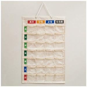 (まとめ)ナカバヤシ お薬カレンダー壁掛けタイプL IF-3012【×3セット】 - 拡大画像