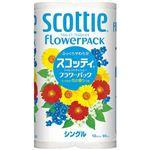 (まとめ)日本製紙クレシア トイレットペーパスコッティフラワーS12巻【×10セット】