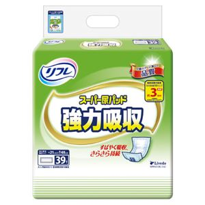 (まとめ)リブドゥコーポレーション リフレ スーパー尿パッド強力吸収【×5セット】 - 拡大画像