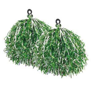 (まとめ)サンワ キラキラポンポン(2個組)緑 43-886【×20セット】 - 拡大画像