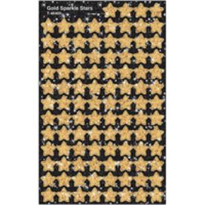 (まとめ)TREND キラキラごほうびシール【星】ゴールド【×5セット】 - 拡大画像