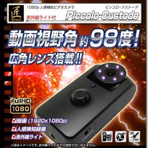 【小型カメラ】匠ブランド強力赤外線+人感センサー検知カメラ ピッコロクストーデ - 拡大画像