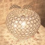 リンゴ型ガラステーブルスタンドライト/卓上照明器具 【Ringo stand】 直径23cm×高さ27cm クリア CTL-2637-CL