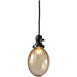 たまごモールランプ/ペンダントライト 【アンバー】 直径13×高さ16cm ガラス 〔インテリア照明器具〕 - 拡大画像