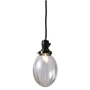 切子たまご棒ランプ/ペンダントライト 【クリアー】 直径13×高さ16cm ガラス 〔インテリア照明器具〕 - 拡大画像
