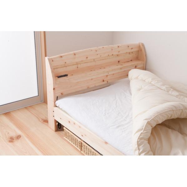国産 宮付き ひのき 畳ベッド(フレームのみ)ダブル 無塗装