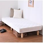 一体型 脚付きマットレス 高反発ウレタン 【ダブル】 組立品 ベッド マットレス 15cm脚 頑丈 コンパクト梱包