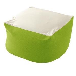 カバーリング ビーズクッション/ビッグクッション 【Lサイズ グリーン】 洗えるカバー 〔リビング雑貨 生活雑貨〕 - 拡大画像
