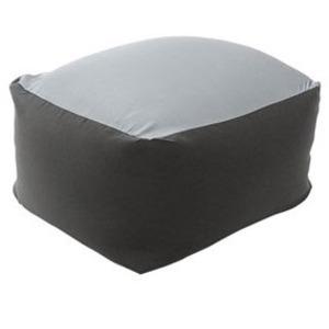 カバーリング ビーズクッション/ビッグクッション 【Lサイズ ブラック】 洗えるカバー 〔リビング雑貨 生活雑貨〕 - 拡大画像